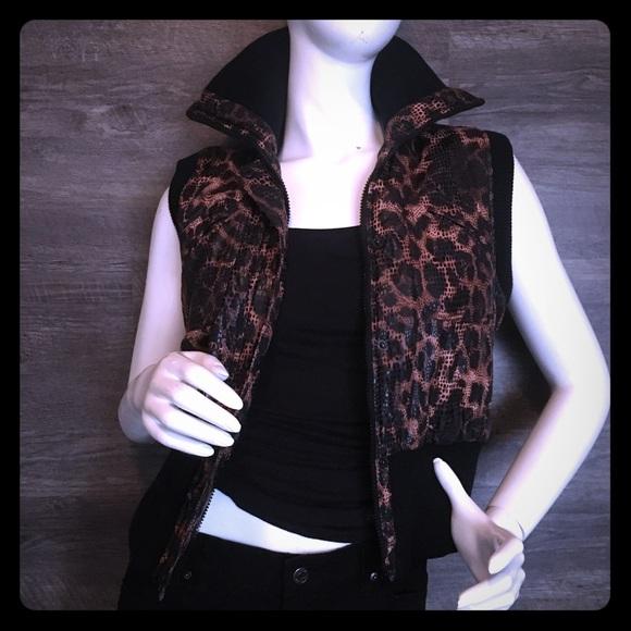 Copper Key Jackets & Blazers - Copper Key Cheetah Vest